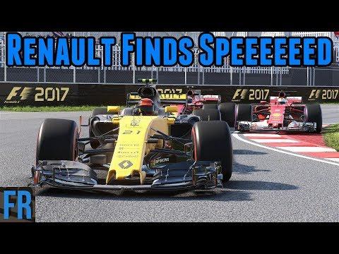 Renault Finds Speeeeeed - F1 2017 Career Mode #7