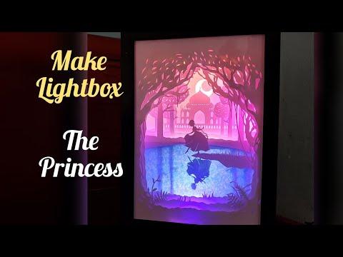 Lightbox Princess dropped her shoe! Đèn tranh 3D công chúa đánh rơi cmn guốc.