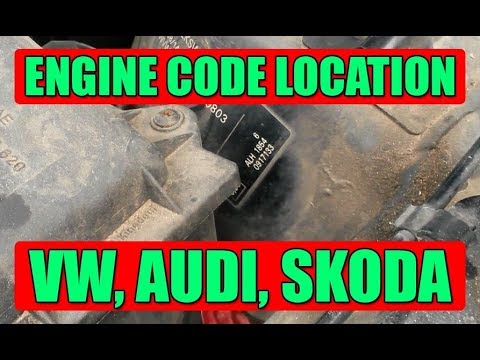 3 places where you can find engine code on VW Golf Mk4, Mk5, Bora, Jetta,  Passat