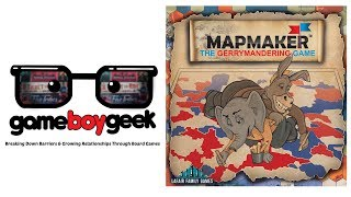 Mapmaker: The Gerrymandering Game Review with the Game Boy Geek