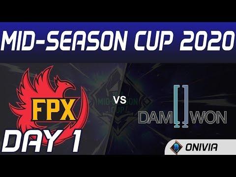 FPX Vs DWG Highlights Day 1 Mid Season Cup 2020 FunPlus Phoenix Vs Damwon Gaming By Onivia