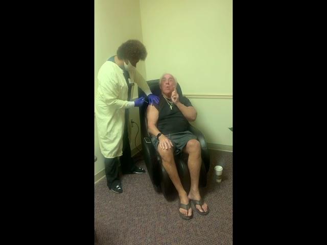 Ric Flair Gets COVID Vaccine