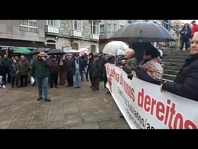 Protesta de pensionistas en Lalín por unhas prestacións dignas