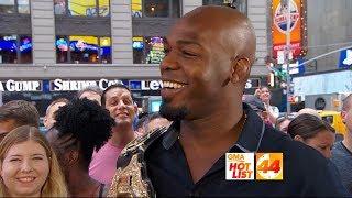 'GMA' Hot List: UFC light heavyweight champ Jon Jones challenges Michael Strahan to a match