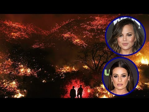 Celebs FORCED To Evacuate Homes Due To California Wildfires