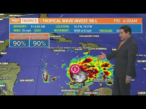Friday morning tropical weather update: Invet 98 may become tropical depression today; 17 days left