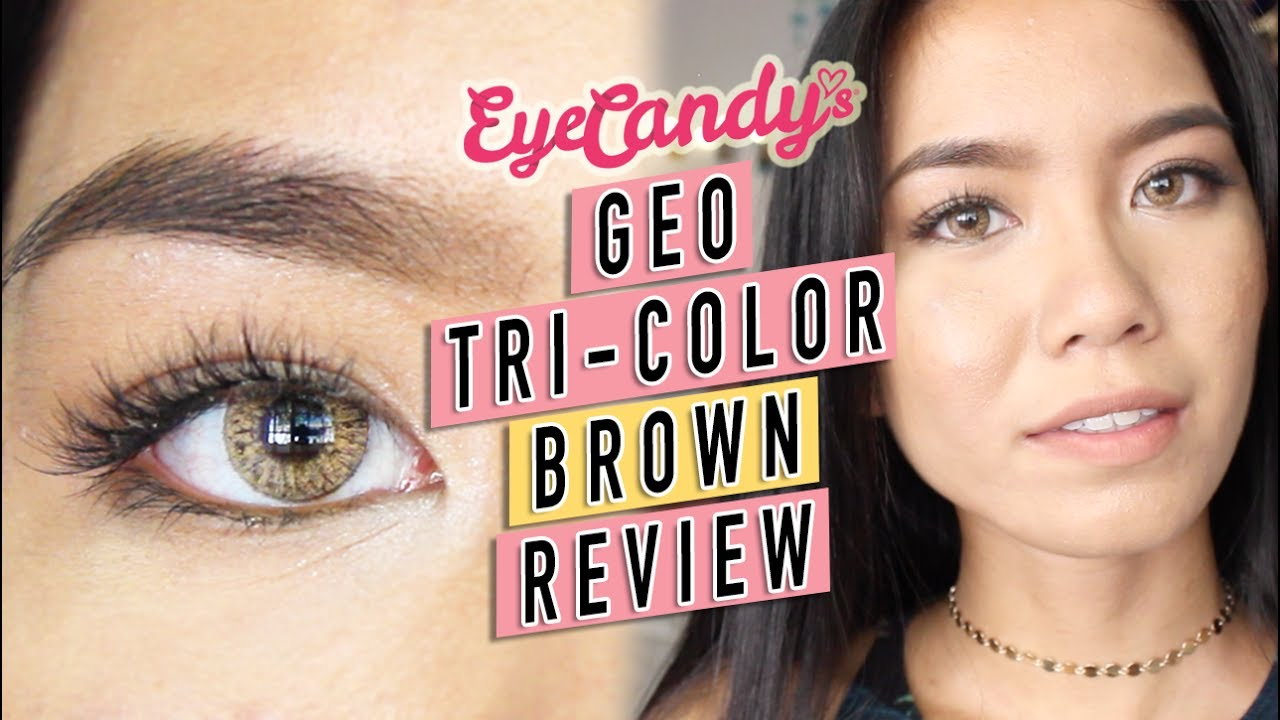 f8339086a17 GEO Tri-Color Brown Colored Contacts Unboxing + Review