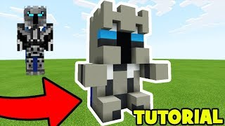 Minecraft: How To Make a Popularmmos Plush Statue