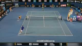Rafael Nadal Vs Roger Federer Best Points [HD] (Part 1)