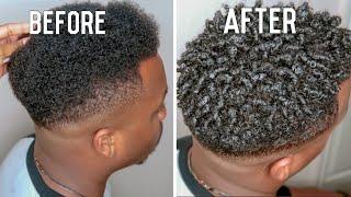 Men's Curly Hair Tutorial | Define Curls Natural Hair