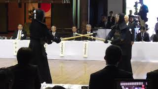 第114回 全日本剣道演武大会 教士八段の部 小山正洋先生(静岡) 対 松本政司先生(香川)