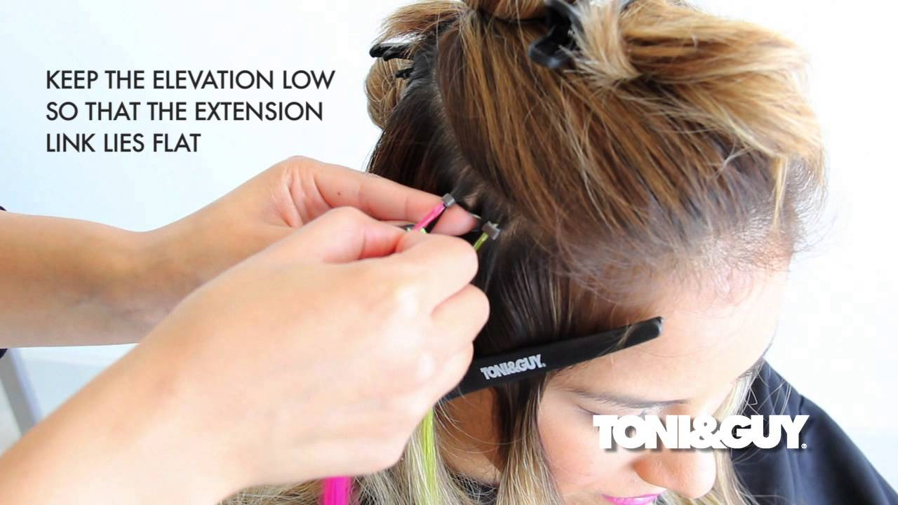 How To Apply Hair Extensions Hair Color Placement Technique Youtube