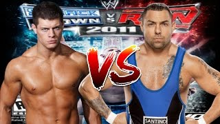 WWE Smackdown vs Raw 2011  Cody Rhodes vs Santino Marella