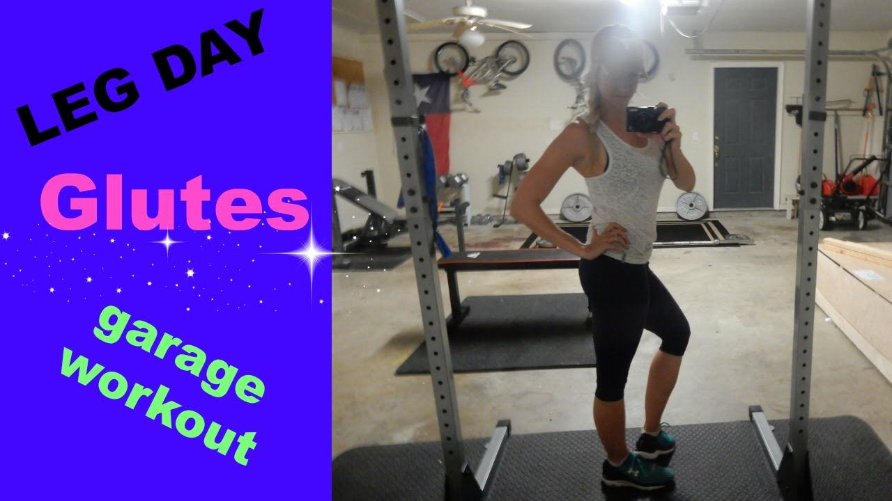 Leg day garage gym workout youtube