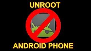 видео Инструкция: Как удалить ROOT права на Андроид
