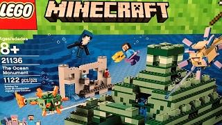 Лего Майнкрафт 2017 Подводная крепость (21136) и Верстак 2.0 (21135).  Видео обзор LEGO Minecraft(В Лего Майнкрафт в 2017 году выйдет набор LEGO 21136 The Ocean Monument или Подводная крепость. Такой памятник подводный..., 2017-02-21T16:49:01.000Z)