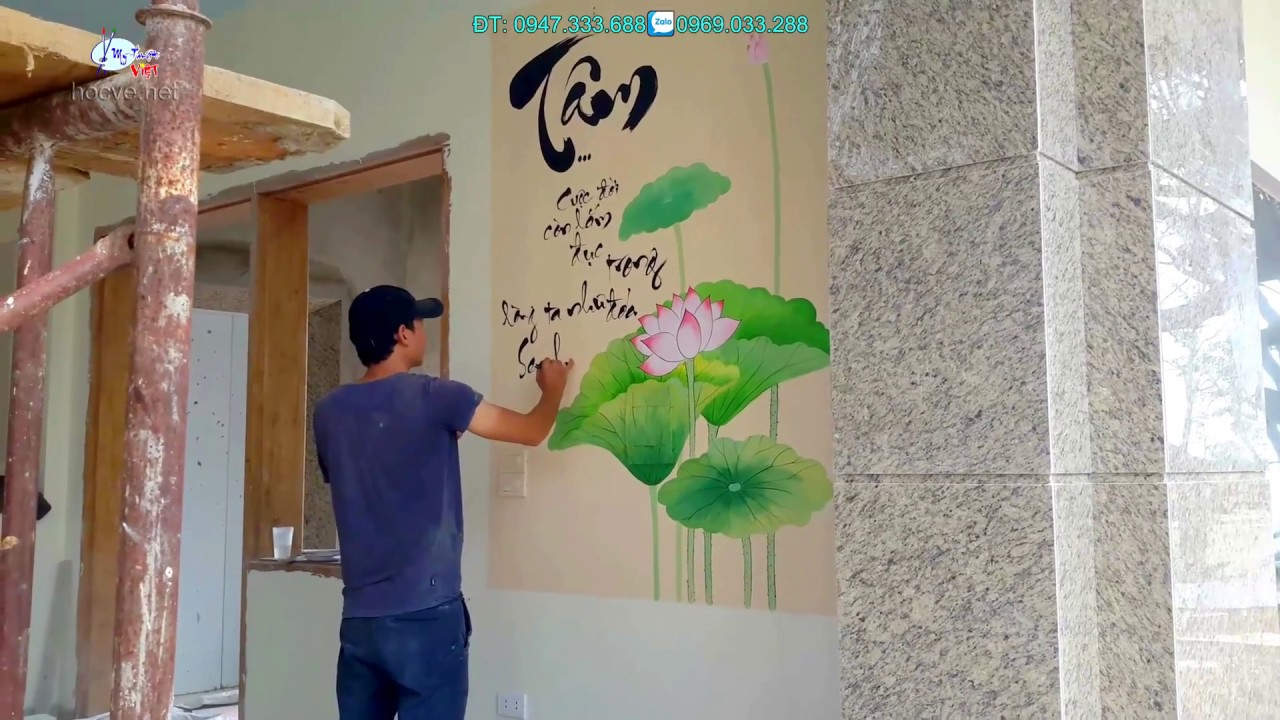Vẽ tranh tường, tranh thư pháp đẹp, nhận thi công toàn quốc với số lượng nhiều