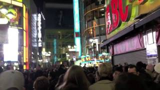 New Years Eve in Shibuya, Tokyo Japan 2015.