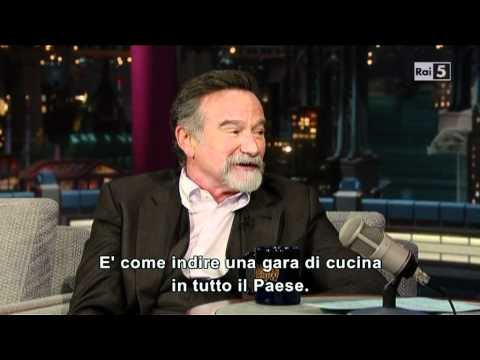 Robin Williams al David Letterman
