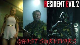 Resident Evil 2 Ghost Survivors DLC Прохождение всех 4-ех сценариев