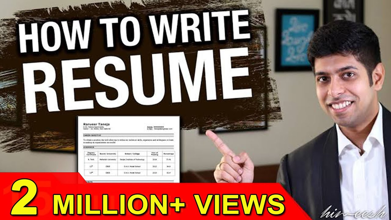 how to write resume effectively job interview tips in hindi by