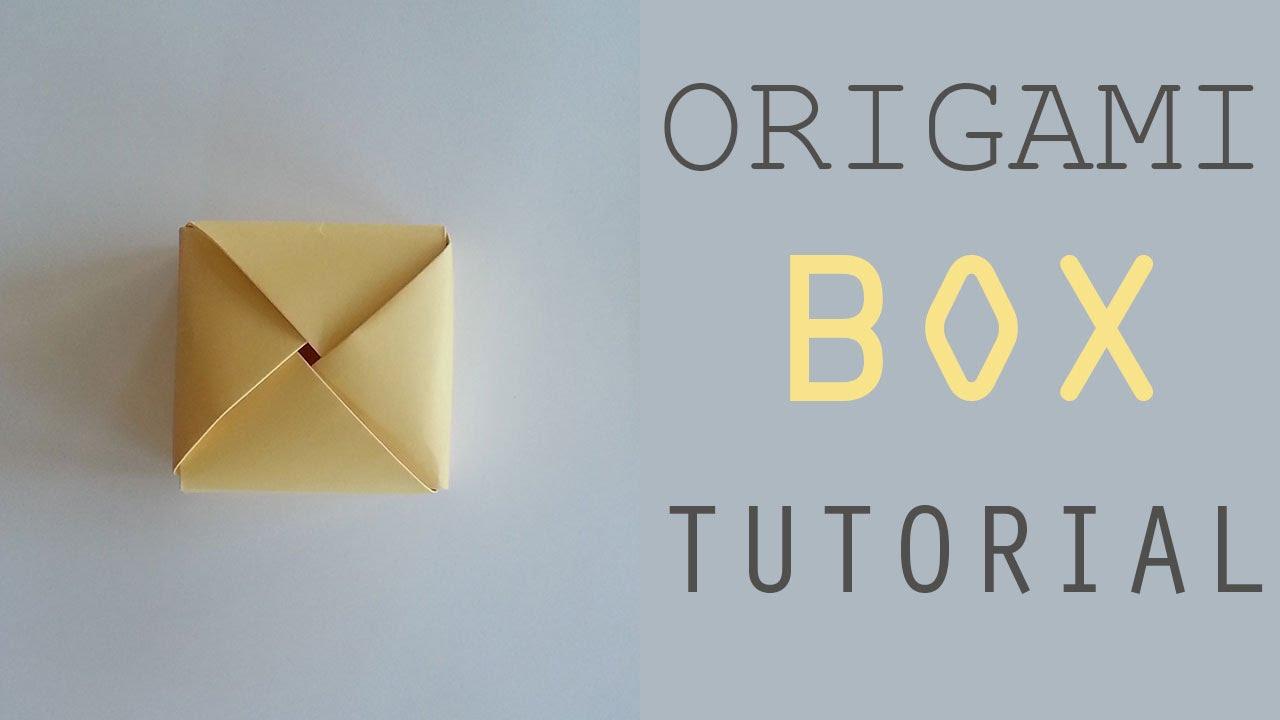 Origami Hinged Gift Box Tutorial - Paper Kawaii - YouTube | 720x1280