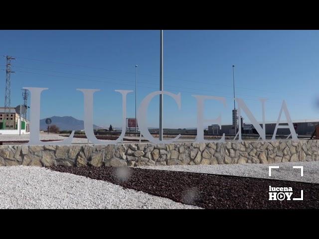 VÍDEO: Objetivo mejorar la imagen de los accesos a Lucena: Remodelada la rotonda sur de la A45.