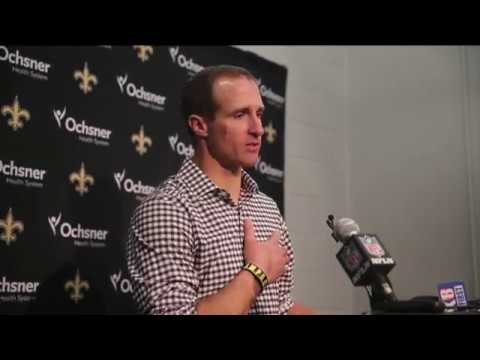 Drew Brees expresses his opinion about protesting during National Anthem