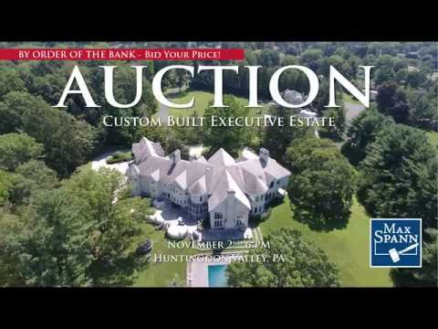 Custom Built Executive Estate 16,130+/- SF Auction In Huntingdon PA