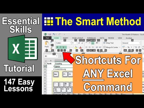 196 useful keyboard shortcuts for excel