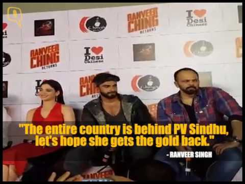 Ranveer Singh Cheers For PV Sindhu and Women Power at Rio Olympics