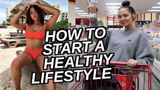 HOW TO START A HEALTHY LIFESTYLE! Grocery Haul, Vitamin Routine, Skin/Hair Care Routine & More! thumbnail
