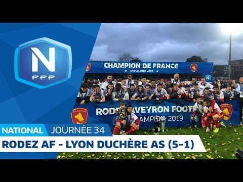 J34 : Rodez Aveyron Football - Lyon Duchère AS (5-1), le résumé I National FFF 2018-2019