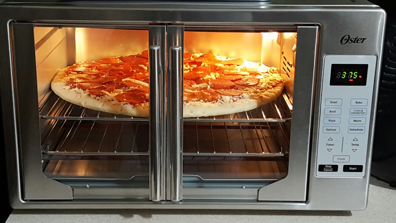 First Look Oster Xl French Door Convection Oven Pizza