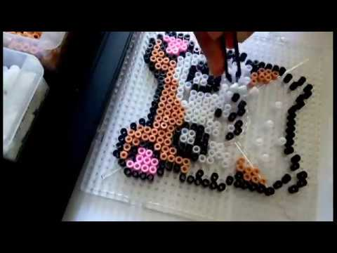 Making Hamtaro Perle Beads Pixel Art (Timelapse)