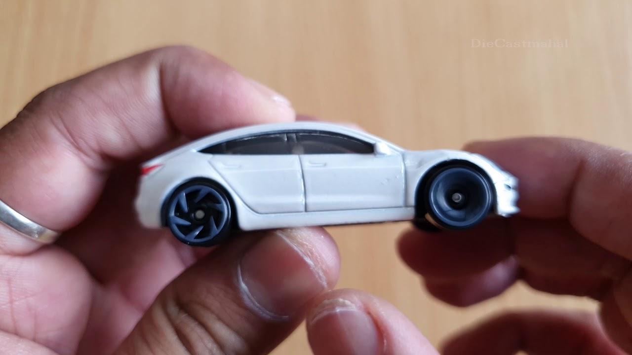 Hot Wheels 2019 Hw Green Speed Tesla Model 3 174 250 White Youtube