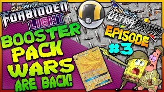 Pokemon Booster Pack Wars Episode#3 Ultra Prism Vs Forbidden Light! Oh Oh The Skunk Was Here Today!