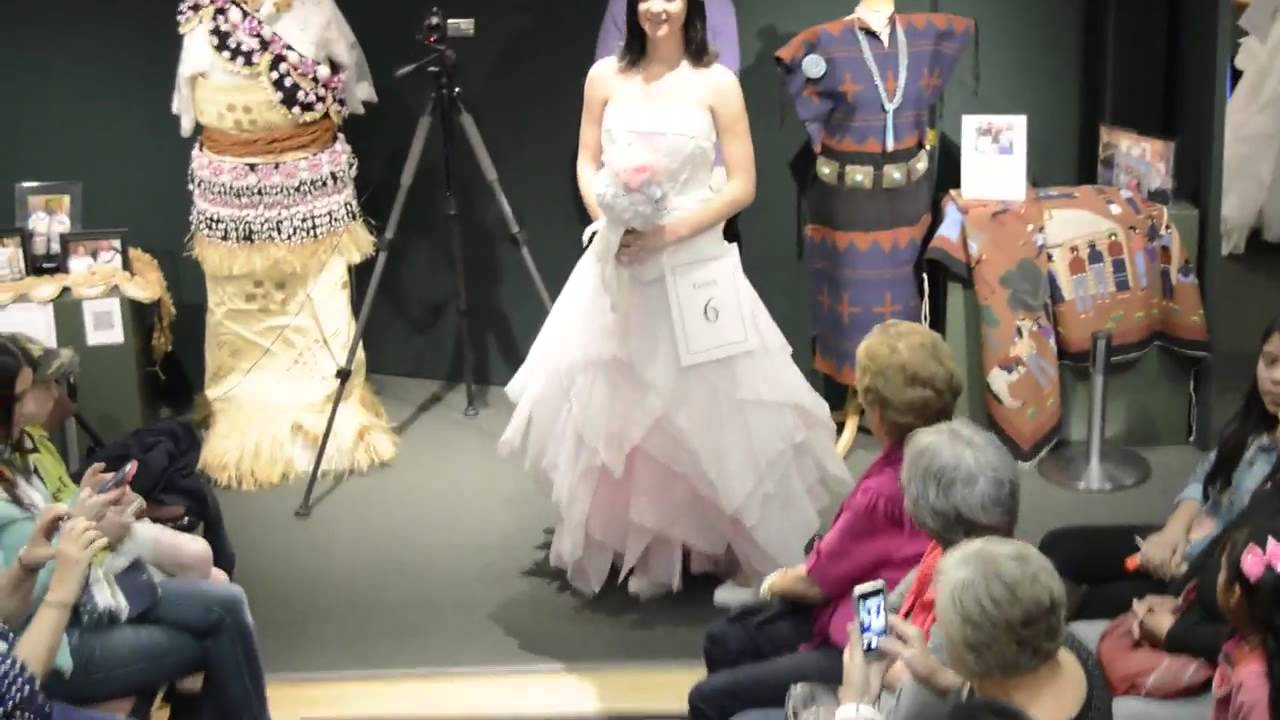 Dixie dolls turn out in paper for museum\'s wedding dress competition ...