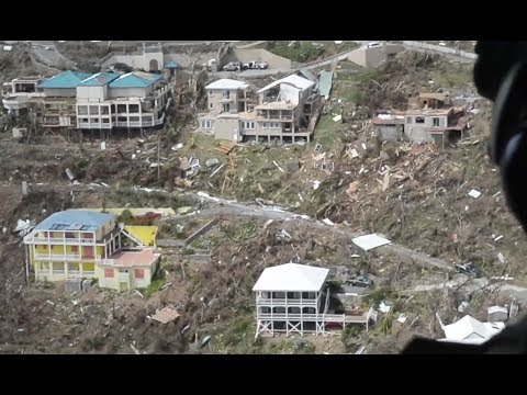 Irma's Massive Destruction On Virgin Islands -Aerial Views