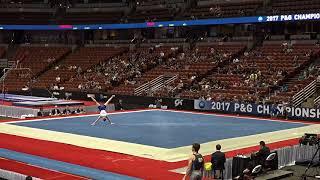 Riley Loos - Floor Exercise - 2017 P&G Championships - Junior Men - Day 2