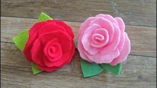 Hai crafter... untuk yang belum tahu gimana cara bikin bros bunga mawar dari kain flanel..yuk langsung bisa lihat video ini supaya praktek.. :)...