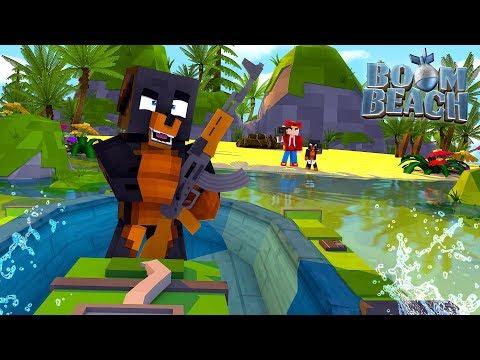 Minecraft BOOM BEACH  COLONEL DONUT INVADES ROPOS ISLAND!!