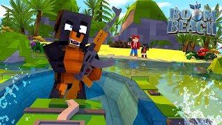 Minecraft BOOM BEACH - COLONEL DONUT INVADES ROPOS ISLAND!!