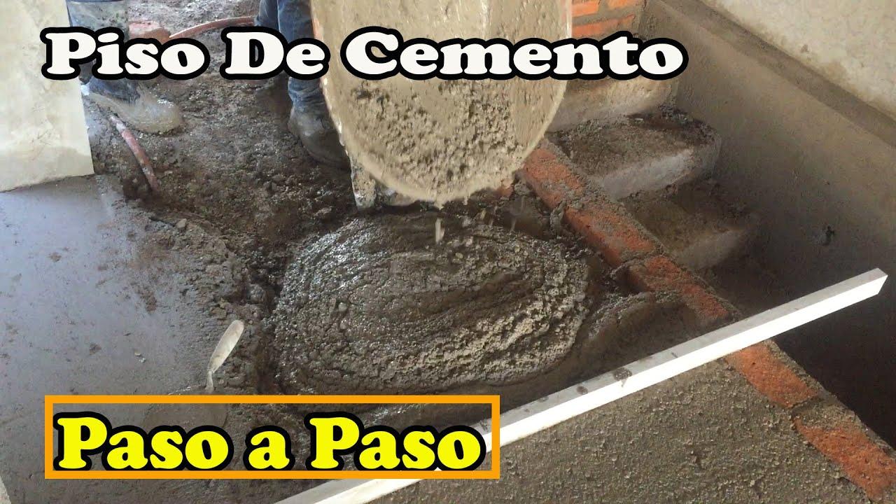 Como hacer un piso de cemento youtube - Como hacer un piso de hormigon lustrado ...