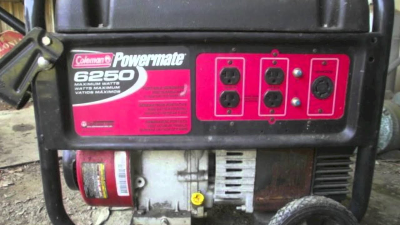 Best Coleman Powermate 6250 Generator With 5000 Running Watt Gas