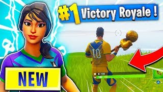 "32 SKINS WITH 1 PURCHASE! New ""Super Striker"" Skin Win! (Fortnite Battle Royale)"