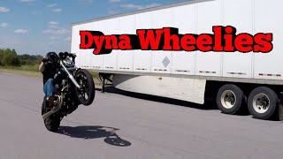 Harley Davidson (Dyna Baby Wheelies) Session 2