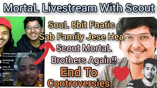 MortaL Livestream with Scout On Instagram | End To the Controversies!!! | Epic Moment