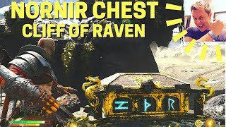 God of War: Nornir Chest at Cliff of Raven (The Lake of Nine)