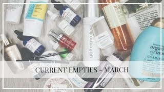 My current Empties - March